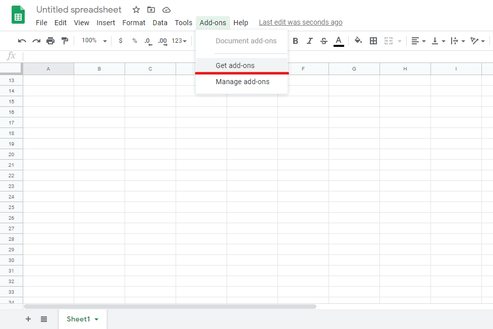 add-ons google spread sheet
